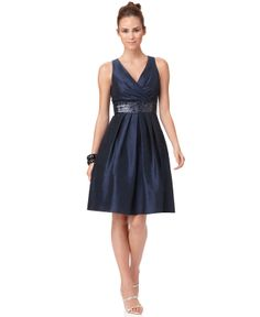 cute, but i think almost out of stock - JS Boutique Dress, Sleeveless Embellished Waist - Womens Bridesmaid Dresses - Macy's