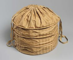 Round bonnet bag French, used in America mid-19th century