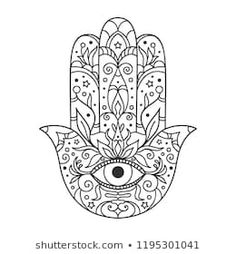 """Similar Images, Stock Photos & Vectors of Hamsa hand drawn symbol with lotus. Decorative pattern in oriental style for interior decoration and henna drawings. The ancient sign of """"Hand of Fatima"""". Hamsa Drawing, Hamsa Painting, Henna Drawings, Fabric Painting, Hand Tattoos, Hamsa Hand Tattoo, Hamsa Art, Script Tattoos, Arabic Tattoos"""