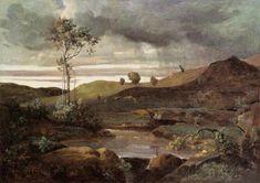 The Roman Campagna in Winter, 1830, Camille Corot Medium: oil, canvas