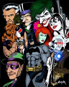 batman villians in comic