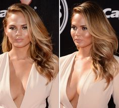 Chrissy Teigen in the Luv AJ x Sunnie Brook Tusk Comb (Gold $120) http://www.luvaj.com/collections/hair-accessories/products/the-tusk-comb-gold
