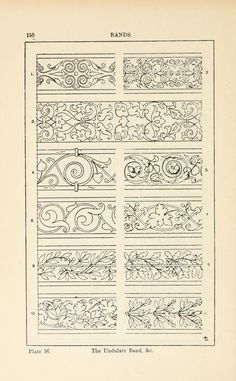 A handbook of ornament; Undulate Band; Plate 96