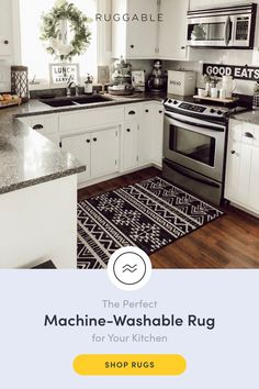 Shop area rugs, accent rugs and runner rugs at Ruggable. Washable, stain-resistant and waterproof, our rugs are perfect for homes with kids and pets. Kitchen Shop, Kitchen Redo, Home Decor Kitchen, Home Kitchens, Kitchen Remodel, Room Kitchen, Kitchen Ideas, Home Interior, Interior Design Kitchen
