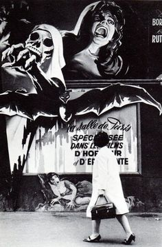 "The movie theatre of Paris specialized in Horror and Fright films in France. This is a street ad about the legendary ""Le Styx"" theater, opened in 1968 and closed in 1980."