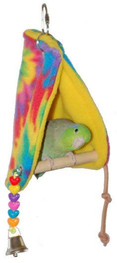 Peekaboo Perch Tent Small  by Super Bird Creations