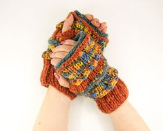 knit fingerless gloves arm warmers fingerless mittens ♥ by piabarile, $29.00