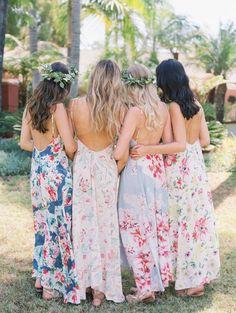 floral bridesmaid dresses More