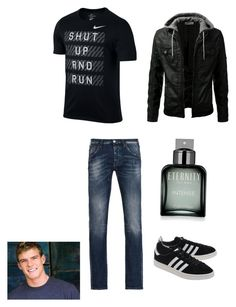 """Raphael Hamato ( Jr. Year)"" by tmnt14-16 on Polyvore featuring NIKE, Armani Jeans, adidas Originals, Calvin Klein, men's fashion and menswear"
