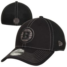New Era Boston Bruins 39THIRTY Neo Stretch Fit Hat - Black