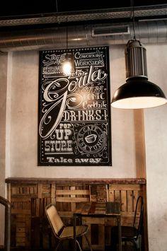 Bar Gorila en Madrid, Estilo Industrial y Arte Urbano de la mano  http://www.icono-interiorismo.blogspot.com.es/2014/03/bar-gorila-en-madrid-estilo-industrial.html