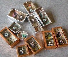 The Mag Rag: Shadow Boxes: Little Birds & Nests Soldering Jewelry, Resin Jewelry, Glass Jewelry, Jewelry Crafts, Jewellery, Soldering Iron, Jewelry Ideas, Shadow Box Kunst, Shadow Box Art