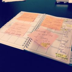 The wedding calendar/planner! Lots of post-it notes!