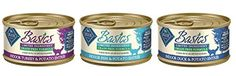 Blue Buffalo Blue Basics Sensitive Solution Grain Free Adult Cat Food  3 Flavors 8 Duck  Potato Cat Entrees 8 Turkey  Potato Entress  8 Fish  Potato Entrees 3 Oz Each 24 Cans Total ** To view further for this item, visit the image link.Note:It is affiliate link to Amazon.