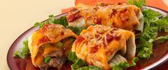 A fajita dinner kit turns beef tip steak, beans and cheese into tasty burritos.