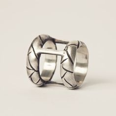 Stacked Drought Ring Silver, $107, now featured on Fab.