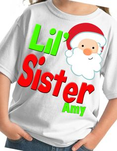 Lil' lil Sister Christmas Shirt or bodysuit by CustomTeesForTots, $16.00