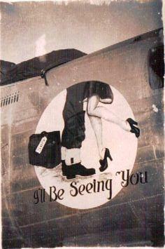 1940's bomber nose art