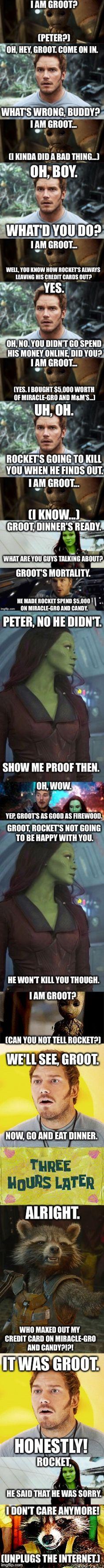 Groot's Internet Adventures