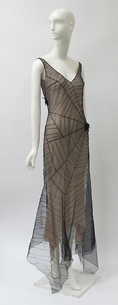 Beautiful Vintage, Gossamer Spider's Web Dress. Suitable for taking tea.