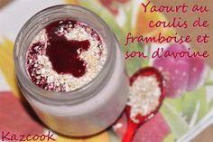 une recette en partenariat avec Farin'Up http://kazcook.com/blog/archives/835-Yaourt-au-coulis-de-framboise-et-son-davoine.html