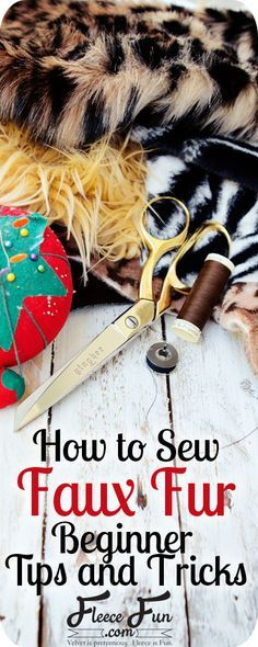 Lovely tips on sewing faux fur. Come into our 4th floor for a glorious array of fur options!