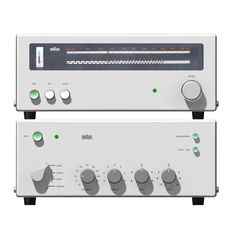 Braun/ Dieter Rams/ Hi-fidelity that imbibes all the 10 Principles of Design Retro Industrial, Industrial Design, Radios, Dieter Rams Design, Braun Dieter Rams, Braun Design, 3d Modelle, Audio Design, Principles Of Design