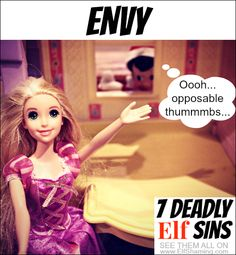 Envious Elf - 7 Deadly Elf on the Shelf Sins on ElfShaming