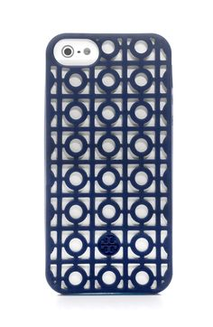 The geometric design of the Tory Burch Kelsey perforated phone case gives this stylish tech accessory a graphic effect that's chic and unique.