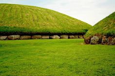 Neolithic Mounds at Knowth Knowth near Slane, County Meath, Ireland.
