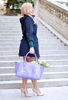 Spring/Summer Collection '15 Icon Fashion Blogger It-Girl by Eleonora Petrella con Gianni Altieri Shopping bag <3  Pink tulips! Bag: http://www.giannialtieri.it/product/pe1215-lilla-rebel/