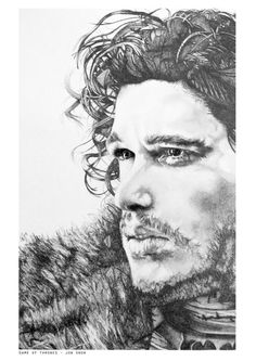 Jon Snow - Game of Thrones. A4 print of an original pencil sketch. on Etsy, $13.06