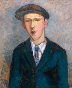 William Scott – Portrait of a Young Man, 1937, Oil on panel, 60.9x50.5 cm
