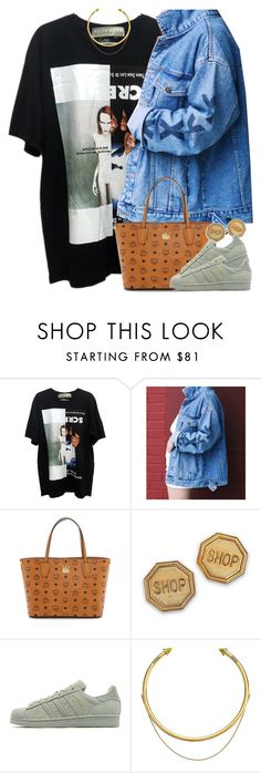 """""""Untitled #1600"""" by power-beauty ❤ liked on Polyvore featuring MCM, Moschino, adidas Originals and OBEY Clothing"""