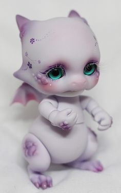 BJD Aileen doll Violet Body Blush + Face up Commission by Light Limner Pretty Dolls, Beautiful Dolls, Magical Monster, Doll Makeup, Kawaii, Fantasy Dragon, Anime Dolls, Smart Doll, Ooak Dolls