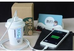 Portable Starbucks I phone charger