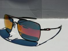 21299743cad NEW-OAKLEY-DEVIATION-Sunglasses-Polished-Black-Ruby-Iridium-OO4061-04
