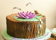 frog birthday party girl | Who could refuse the rich purples and earthy greens of the bayou?!