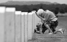Photos like this one convey intense emotion but can be intrusive to the grief of the subject. This is an example of the ethical question of the Veil of Ignorance. http://photoblog.statesman.com/tag/memorial-day-at-the-central-texas-state-veterans-cemetery