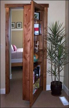 Book case door