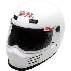 Simpson MSB15M1 Street Bandit Motorcycle Helmet (MMedium White)