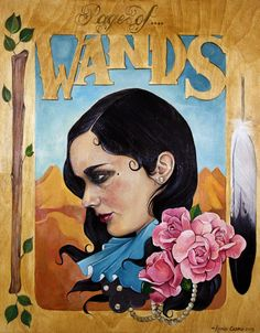 Page of Wands from Modern Eden Gallery