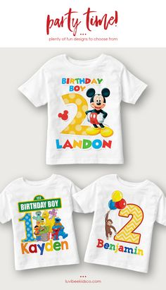 Your Kids Will Love Having Their Own Customized Birthday Shirt There