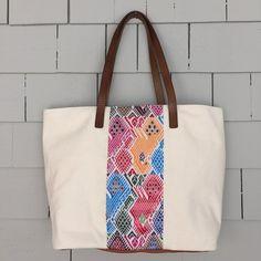 The Canvas Tote - Guatemalan Handbags // JOJI