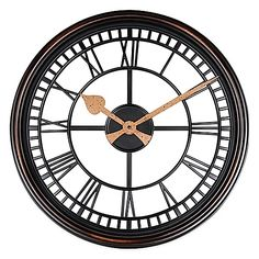 The elegant Roman Grill Wall Clock will add a chic touch of traditional style to…
