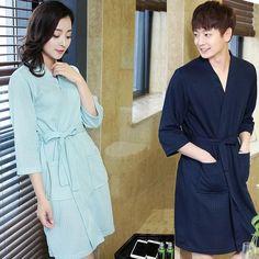 Hot Sale Lovers Summer ElegantSuck Sweat Towel Bath Robe Plus Size Men Sexy  Kimono Bathrobe Mens 4c9059a9a
