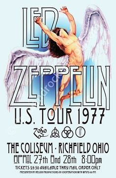 Led Zeppelin~ classic heavy metal psychedelic rock music poster ☮~ღ~*~*✿⊱ レ o √ 乇 ! John Paul Jones, John Bonham, Robert Plant, Led Zeppelin Poster, Led Zeppelin Concert, Led Zeppelin Art, Tour Posters, Band Posters, Jimmy Page