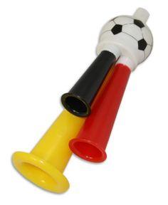 """Tolle Fanartikel zur Fußball-WM 2014, wie """"96 x Fußballtröte 3 fach Fanfare Deutschland Fanartikel Tröte 12cmx3cm WM EM"""" jetzt hier anschauen: http://fussball-fanartikel.einfach-kaufen.net/fan-hoerner-megaphone/96-x-fussballtroete-3-fach-fanfare-deutschland-fanartikel-troete-12cmx3cm-wm-em/"""