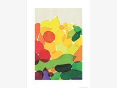 FRUIT MULTI-COLOURED Paper 60 x 80cm print by Kazuaki Yamauchi - HabitatUK
