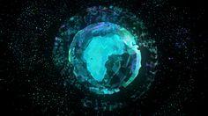 Polygonal Earth Hologram